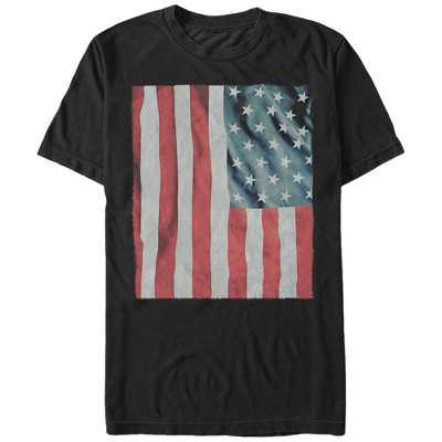 Men's Lost Gods Fourth of July  Waving American Flag T-Shirt