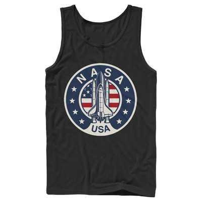 Men's NASA Patriotic USA Rocket Logo Tank Top