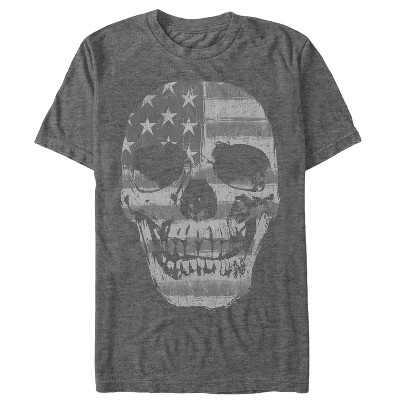 Men's Lost Gods Fourth of July  American Skull T-Shirt