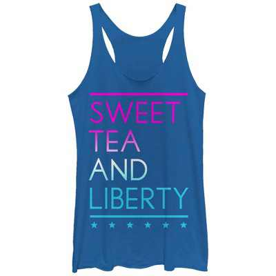 Women's CHIN UP 4th of July Sweet Tea and Liberty Racerback Tank Top