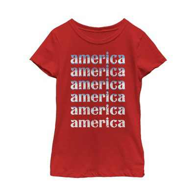 Fifth Sun Kids Slim Fit Short Sleeve Crew Graphic Tee - Red Large