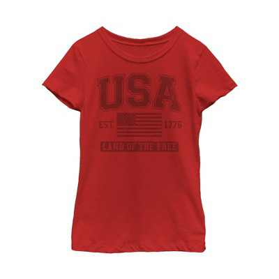 Fifth Sun Kids Slim Fit Short Sleeve Crew Graphic Tee - Red X Large