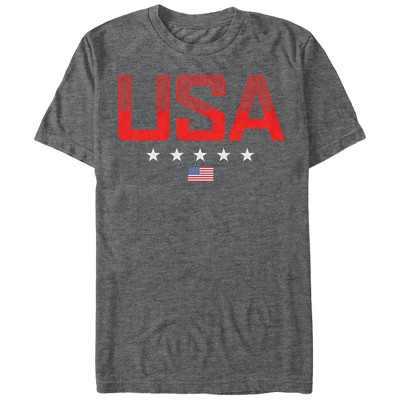 Men's Lost Gods Fourth of July  USA Stripe Design T-Shirt