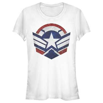 Junior's Marvel The Falcon and the Winter Soldier Captain America New Shield T-Shirt