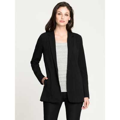 NIC+ZOE Women's Perfect Seamed Jacket Black Onyx