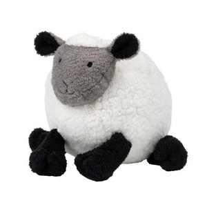 Lambs & Ivy Sleepy Sheep Plush White/Black/Gray Sheep Stuffed Animal Toy - Wooly