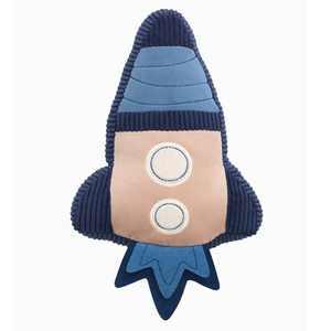 Lambs & Ivy Sky Rocket Pillow Plush Toy/Nursery Throw Pillow - Blue