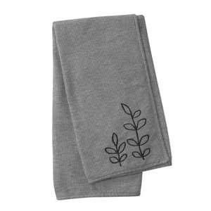 Lambs & Ivy Painted Forest Heather Gray Waffle Knit Vine Nursery Baby Blanket
