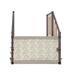 The Stair Barrier Portable Wide Banister to Banister Retractable Fabric Baby and Pet Safety Gate, 42 to 52 Inch, Safari Linen