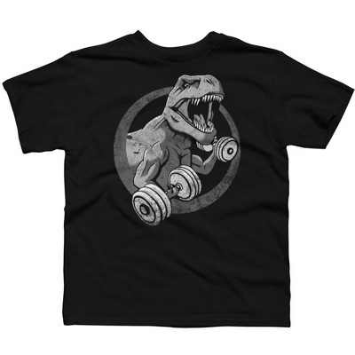 Small Arms - Big Guns Distressed Boys Graphic T-Shirt - Design By Humans