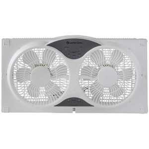 Comfort Zone 3 Speed Dual Reversible Window Sill Fan with Remote Control, White