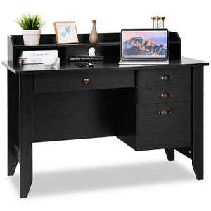 Costway Computer Desk PC Laptop Writing Table Workstation Student Study Furniture Black