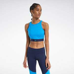 Reebok Mesh Crop Top Womens Athletic T-Shirts