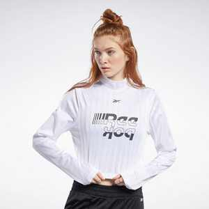 Reebok Meet You There Crop Top Womens Athletic T-Shirts