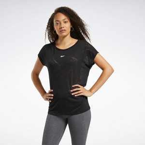 Reebok Burnout Tee Womens Athletic T-Shirts