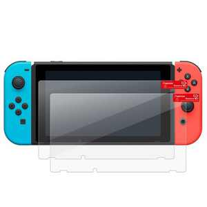 Insten 2-Pack Tempered Glass Screen Protector for Nintendo Switch - Transparent HD Clear & Anti-Scratch Protective Games Accessories