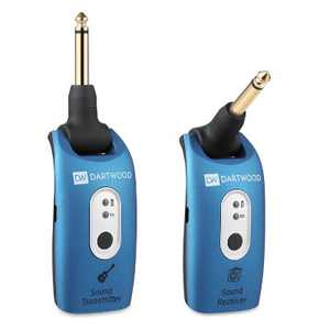Dartwood 2.4GHZ Guitar Wireless System Rechargeable Guitar Transmitter Receiver For Electric Guitar And Bass