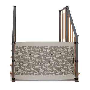 The Stair Barrier Portable Travel Wide Banister to Banister Retractable Fabric Baby and Pet Safety Gate, 42 to 52 Inch, Brown, Just for Dogs, Brown