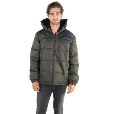 Members Only Mens Twill Block Puffer Jacket