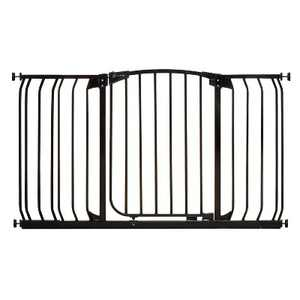 Dreambaby L790B Chelsea 38-53 Inch Wide Auto-Close Baby & Pet Wall to Wall Safety Gate with Stay Open Feature for Doors, Stairs, and Hallways, Black