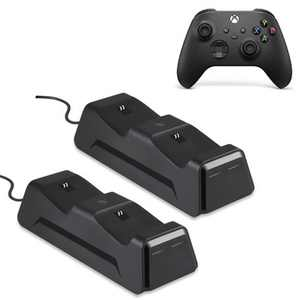 Wasserstein Controller Charging Station for Xbox Wireless Controller 2020 Model & 2016 Model (Xbox Series X, Xbox Series S, Xbox One) (2 Pack)