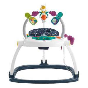 Fisher-Price Playroom Astro Kitty SpaceSaver Jumperoo Chair Seat & Baby Bouncer with Interactive Controls, Music, Lights, and Sounds for Ages 2 and Up