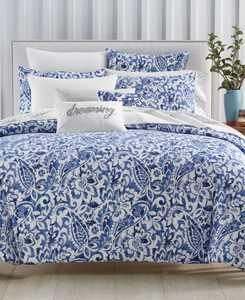 Textured Paisley 300-Thread Count 3-Pc. Full/Queen Comforter Set, Created for Macy's