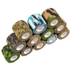 Juvale 12 Pack Self Adhesive Bandage Wraps, Cohesive Tape, Camouflage Design, 2 In x 5 Yard