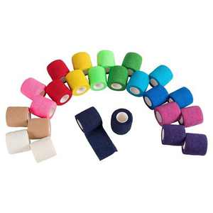 Juvale 24 Pack Self Adhesive Bandage Wraps, Cohesive Tape, in 12 Colors, 2 In x 5 Yard