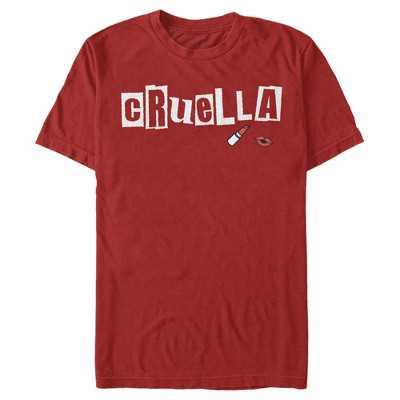 Men's Cruella Lipstick Logo T-Shirt
