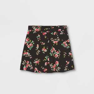 Girls' Floral Button-Front Skirt - art class
