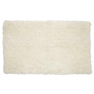 Juvale Cream Bath Mat, Non-Slip Bathroom Rugs for Showers (32 x 20 Inches)