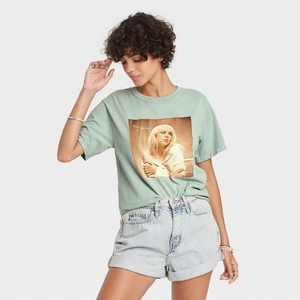 Women's Billie Eilish Happier Than Ever Short Sleeve Graphic T-Shirt - Green