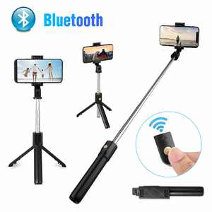 EEEkit Selfie Stick Bluetooth, Extendable Monopod with Bluetooth Remote Shutter for iPhone 13/12/11 Xs Max/XR/X/8/7/7P/6s, Galaxy S10/S10 Plus/S9/S9 Plus/S8/S7, Google, LG V40 G7 and More (Black)