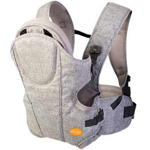 Dreambaby Oxford 3 in 1 Position Ergonomic Supportive Baby Carrier with Shoulder Strap Pads For Newborns and Infants Up to 33 Pounds, Gray