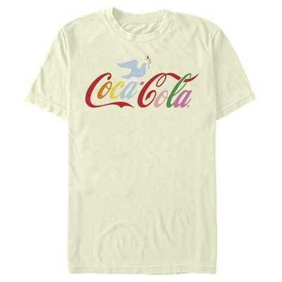 Men's Coca Cola Unity Rainbow Dove Logo T-Shirt