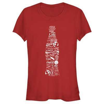 Junior's Coca Cola Unity Logo Bottle T-Shirt