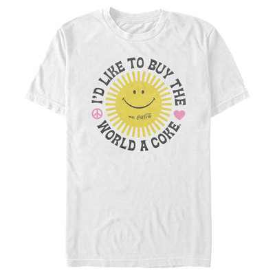 Men's Coca Cola Unity Sunshine Logo T-Shirt