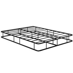 Costway 9 Inch Platform Low Profile Bed Frame Steel Slat Mattress Foundation Queen Size