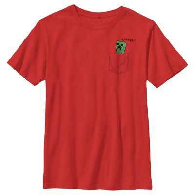 Boy's Minecraft Faux Pocket Creeper T-Shirt