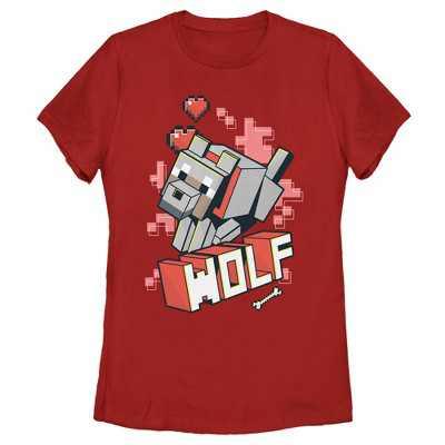 Women's Minecraft Wolf T-Shirt