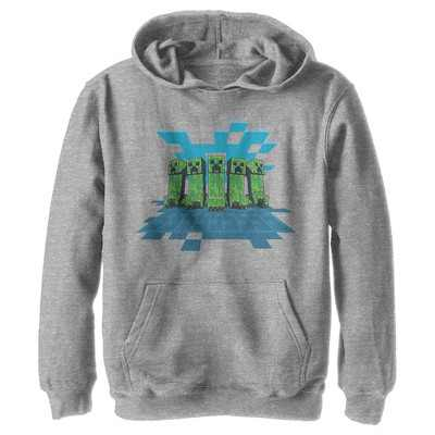 Boy's Minecraft Creeper Mob Pull Over Hoodie