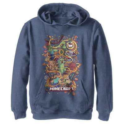 Boy's Minecraft Group Shot Pull Over Hoodie