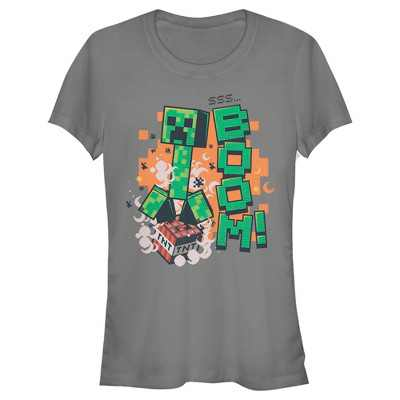 Junior's Minecraft Creeper Boom T-Shirt