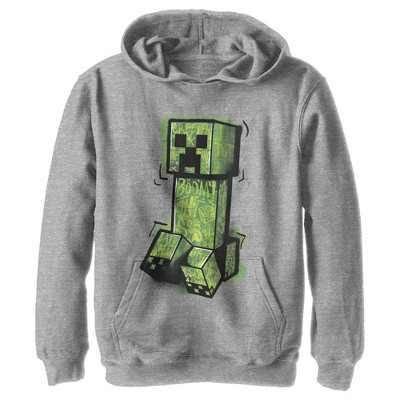 Boy's Minecraft Graffiti Creeper Pull Over Hoodie