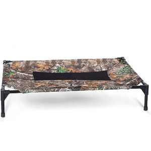 K&H Pet Products Indoor Outdoor Original Mesh Elevated Cot Dog and Cat Raised Pet Bed, Supports Up to 200 Pounds, Realtree Edge Camo & Black, Large