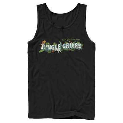 Men's Jungle Cruise Wish You Were Here Postcard Logo Tank Top