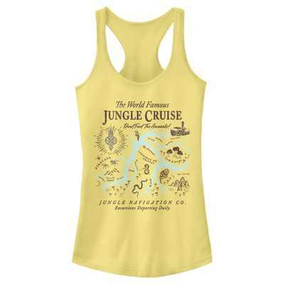 Junior's Jungle Cruise Excursion Map Racerback Tank Top