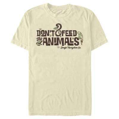 Men's Jungle Cruise Don't Feed The Animals Logo T-Shirt