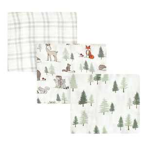 Hudson Baby Infant Boy Cotton Muslin Swaddle Blankets, Forest Animals, One Size